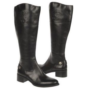 •new• ETIENNE AIGNER Wide Calf Chip Riding Boot